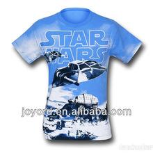 Fashion wholesale sublimation polyester t-shirt