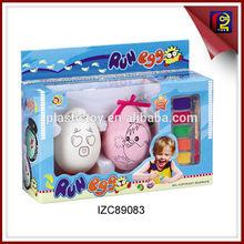 Aquarela pintado plástico brinquedo de ovos de galinha ZC89083