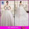 New Fashion Style Ball Gown Off-shoulder Lace Appliqued Beaded V-Neck Beautiful Pakistani Wedding Dress ED-YH465
