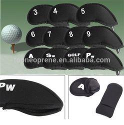 Custom Neoprene golf club Head cover protect case set Neoprene golf iron covers