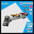 De plástico de energía por fricción niños camión de remolque de juguete con 2 f1 del coche