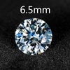 Wholesale Synthetic Moissanite Diamonds For Jewelry Round Brilliant Cut 6.5mm 1.0CT VVS / G-H Factory Price