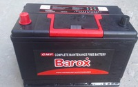 best quality Barox CMF80R 12V80AH maintenance free battery for Africa market