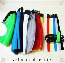 factory color velcro cloth cable, velcro cable tie, fastener strap