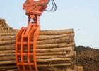 Excavator parts wood grapple for excavator