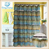 GRADIENT COLOR RUFFLE SHOWER CURTAIN VALANCE