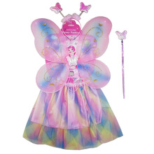 fashion colorful Fairy Butterfly wing/headband/wand/skirt sets