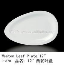 porcelain water drop shaped plate,porcelain dinner plates,daily use white porcelain water drop shaped plates for hotel