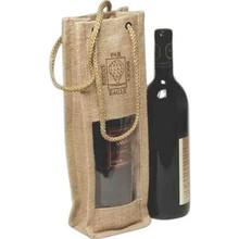 Wholesale Wine Bottle Jute Bags With Window