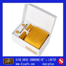 2014 Fahsion Novel Design Wood Tie Cufflink Box Men Gift Set