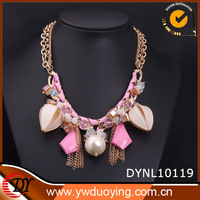 2014 Factory Wholesale New Design Pink Pearl Choker Necklace For Women