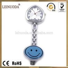 Wholesale price supply smile face nurse pin watch, pocket nursing watch