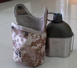water bottle with stailess steel canteen