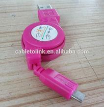 Retractable Micro USB Cable for LG Optimus 3D Max 4X HD TrueHD