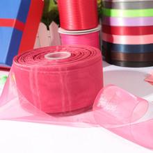 sheer organza ribbon/satin ribbon for wedding/chrismas/parties decoration