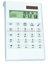 dual/solar powered calculator promotional calendar calculator 12 digits calculator with tranparent button