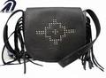 2014 schwarze dame handtasche pu-leder handtasche