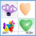 cristal de látex balão formato de coração para a decoração do casamento