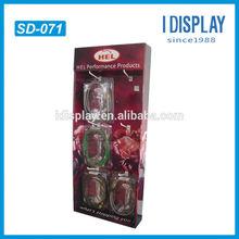 free standing wire display rack for charging cables cardboard hook display rack