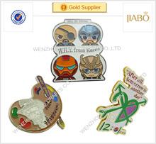 China factory direct sales South Korea country wholesale cheap promotional school souvenir metal badge lapel pin