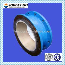 Acid&corrosion&wear&impact resistant pure alumina ceramic sleeve lined steel tube/resistance tube/alumina ceramic sleeve lined s