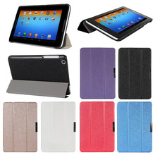 "Fashion 2014 Silk Patterns 3-Folders Leather Case Skin Stand For Lenovo A8-50 A5500 8"" Tablet"