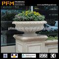 retangular de plástico vasos de flores