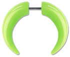 Bone fake piercing spiral expander plug horn expander taper earrings tunnel -green
