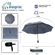 custom logo 3 folding umbrella auto open and close for advertising