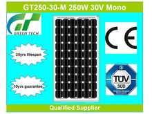 GT250-30-M 250W 30V high quality solar module