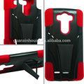 gel azul negro y soporte de caso duro híbrido de teléfono de la piel cubierta de accesorios para lg g3