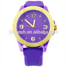 ladies bracelet wrist bezel color silicone female watch