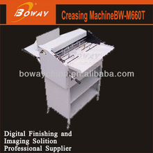 Automatic paper feeding ajustable pressure cutting & slitting guide positioning jog BW-M660T paper creasing and cutting machine