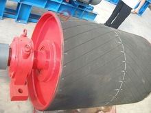 rubber coated steel head pulleys for belt conveyor