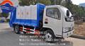 3-4 m 3 de lixo do caminhão de transporte, do lado de carga caminhão compactador de lixo