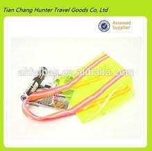 Beautiful Clear Yellow PVC Lady PVC beach bag , shoulder handbag