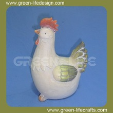 Countryside colorful ceramic chicken