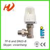TF-6 and DN15-B brass thermostat radiator valve