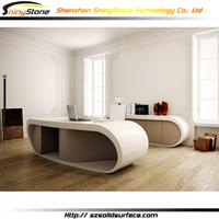 STOD-053 hot google desk krion solid surface round executive desk