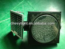 200mm solar warning LED traffic signal