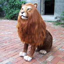 The simulation animal Mighty lion Fur animal model of the big male lion