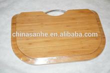 Popular metal handle special shape bamboo blocks
