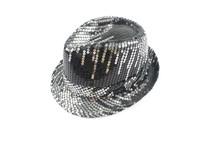 Stylish Black Shining Flakelet Fedora Hat