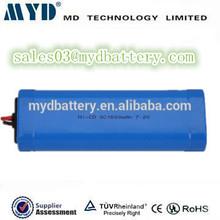 Ricaricabile sc dimensioni 1500mah 7.2v batteria al nichel cadmio