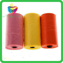 Yiwu colored custom plastic roll bag for dogs waste