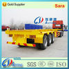 China 2014 new products 3-axle 40ft/45ft/48ft/53ft skeleton container chassis semi truck trailer for sale
