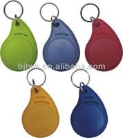 Plastic cheap rfid key chain tag for door login