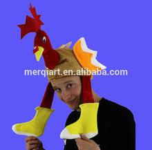 Promotional turkey hat plush santa Hat christmas hat with white beard