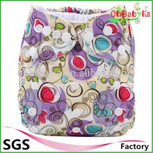 Ohbabyka Double row snaps Pocket cloth diaper free shipping