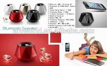 AWS1077 Multifunctional Diamond Wireless Bluetooth Speaker, big speakers with fm clock lcd radio